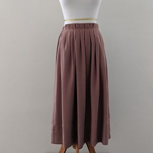 Taupe J. Crew Midi Skirt